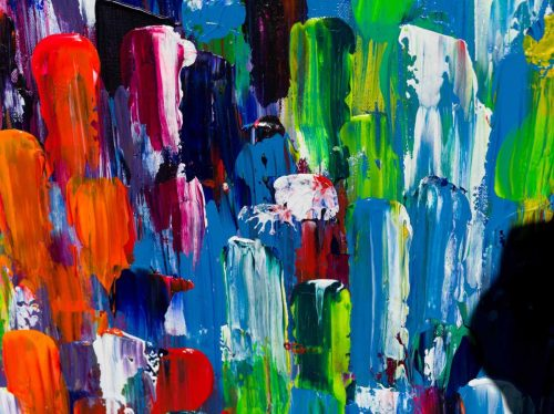 Abstract schilderij: Dynamic colors - Uitvergroting