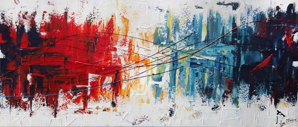 Abstract schilderij Dynamite 2
