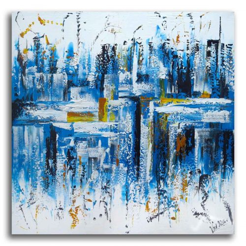 Abstract schilderij: Dynamite BlueII