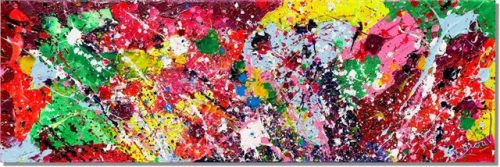 Abstract schilderij: Happy