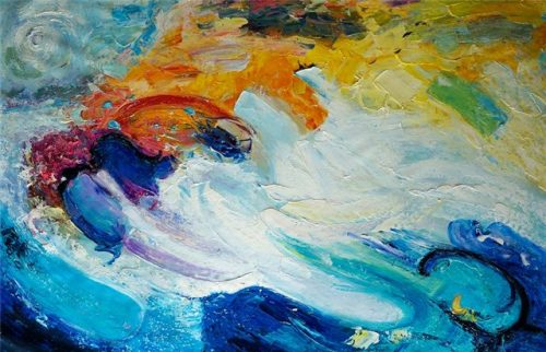 Abstract schilderij: Wave