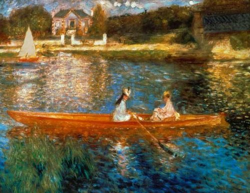 Reproductie Schilderij Renoir : Boating On the Seine-Pierre
