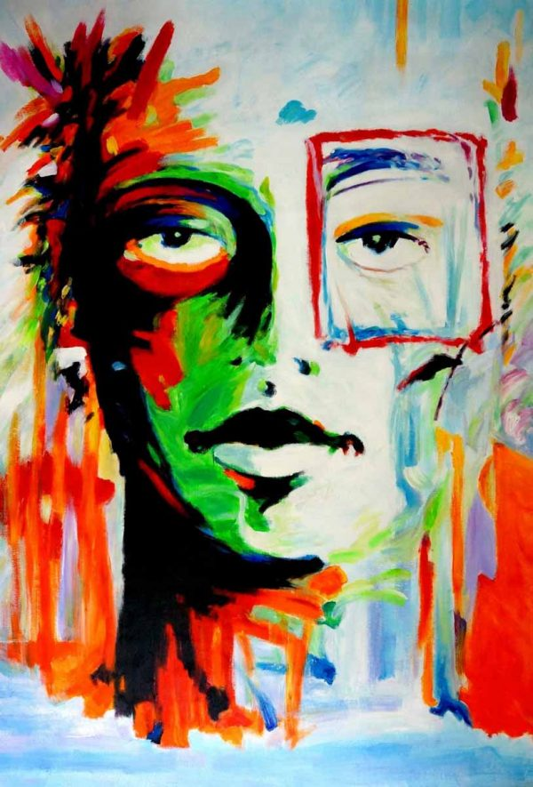 Pop art schilderij: Face