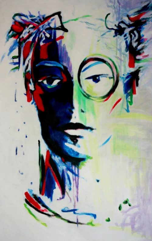 Pop art schilderij: Face II