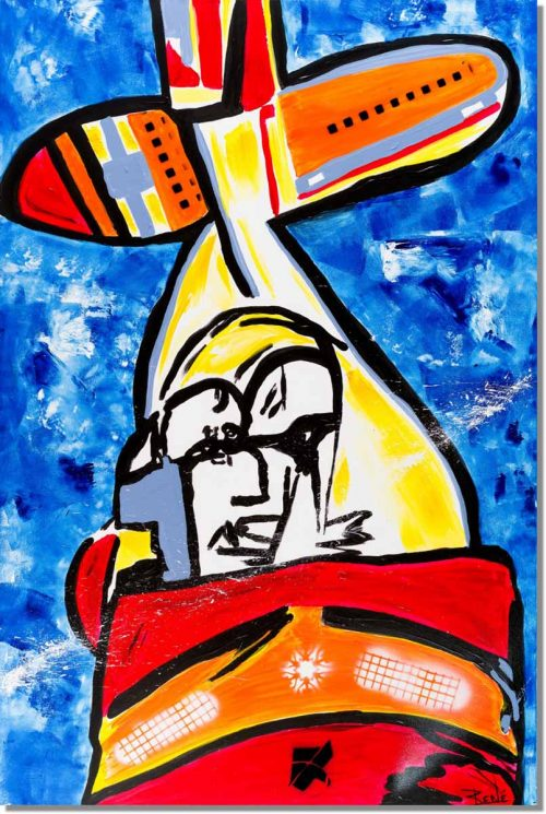 Pop art schilderij: Fly