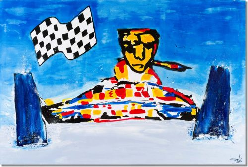 Pop art schilderij: Race auto