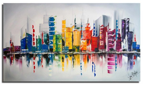 Skyline schilderij: Color City