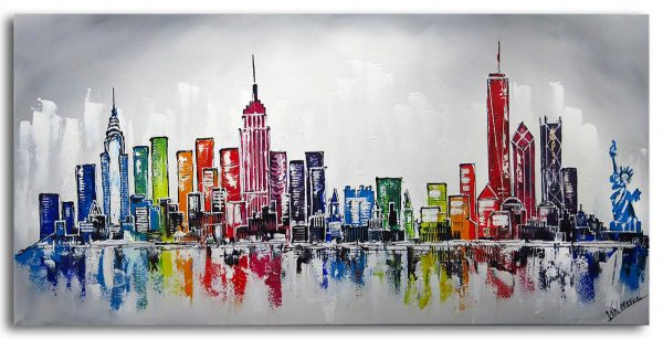 Skyline New York Schilderij