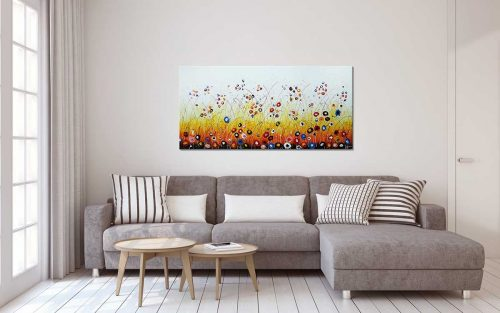 Happy Flowers Schilderij - In een interieur