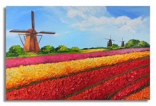 Hollands landschap schilderij