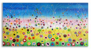 Modern schilderij Magic Flowers